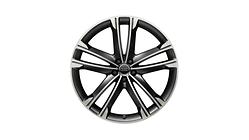 Aluminium-Gussrad im 5-Arm-Volsella-Design, mattschwarz, glanzgedreht, 10 J x 22
