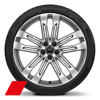 Alloy wheels, 5-double-spoke V-style (S style), Graphite Gray, diam.-turned, 8.5J x 21, 255/40 R21 tires