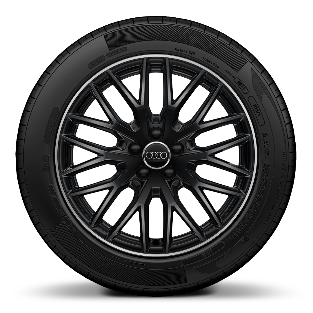 Audi Sport cast alum. wheels, 10-Y-spoke design, gloss black, gloss turned finish, 7.5Jx17, 215/40 R17 tyres