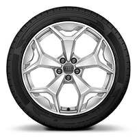 "18"" alloy wheels in 5-Y-spoke design, partly polished"