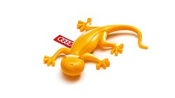 Audi gecko air freshener, yellow, fruity