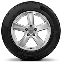 "17"" x 7.0J '5-arm star' design alloy wheels with 215/55 R17 tyres"