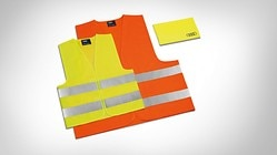 High-visibility vest set, for the family