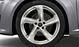 Aluminium-Gussräder Audi Sport im 5-Arm-Turbinen-Design, Magnesiumoptik, glanzgedreht, Größe 9 J x 19, mit Reifen 245/35 R 19