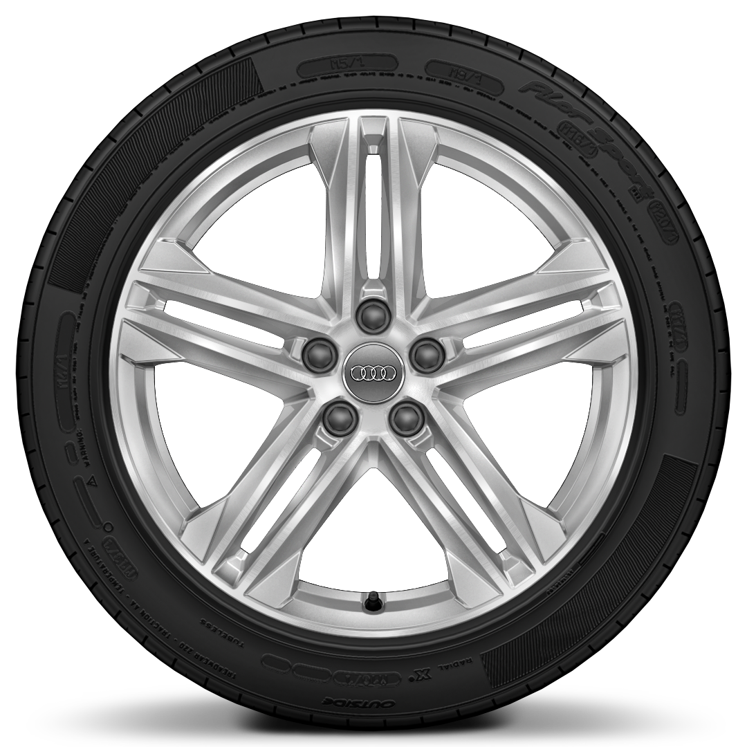 "19"" x 8.0J '5-twin-spoke star' design diamond cut finish alloy wheels with 235/55 R19 tyres"