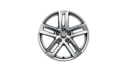 Cast aluminium winter wheel in 5-parallel-spoke design, brilliant silver, 7 J x 17