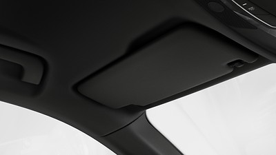 Sun visor on driver and front passenger side