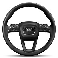 3-spoke leather trimmed multi-functional steering wheel