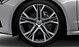 """21"""" alloy wheels in 5-V spoke star design , contrasting grey with 255/34 tyres"""