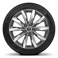 Alloy wheels, 10-spoke dynamic style, Graphite Gray, diamond-turned, 8.0J x 18, 245/40 R18 tires