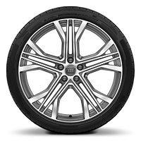 "21"" alloy wheels in 5-V spoke star design , contrasting grey with 255/34 tyres"