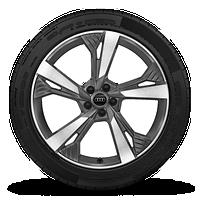 """21"""" 5-spoke star-design, bi-color wheels"""