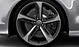 Легкосплавные диски Audi Sport, дизайн «5 спиц Blade», titan matt, c полированной обводкой, размер 9J x 21