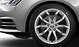 Cast aluminium alloy wheels, 10-spoke V design, size 8J x 18, with 245/40 R 18 tyres