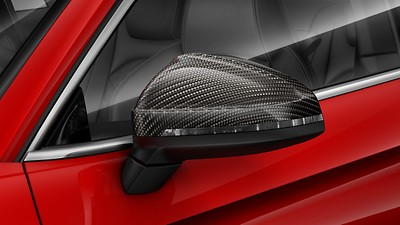 Exterior mirror housings in gloss carbon
