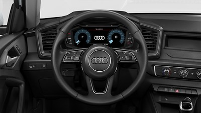 3-spoke leather multi-function steering wheel, with paddles for S tronic transmissions