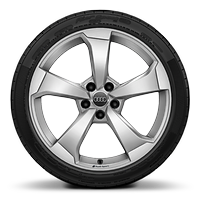 Cast alloy wheels, 5-arm rotor style, 8J x 19 with 235/35 R19 tires