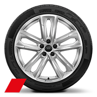 Alloy wheels, 5-double-arm style, 8.5J x 20, 255/40 R20 tires, Audi Sport GmbH