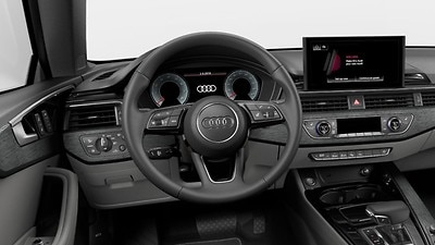 Heated three-spoke multifunction steering wheel with shift paddles