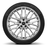 Audi Sport cast alloy wheels, 10-Y-spoke style, 8J x 19 with 235/35 R19 tires