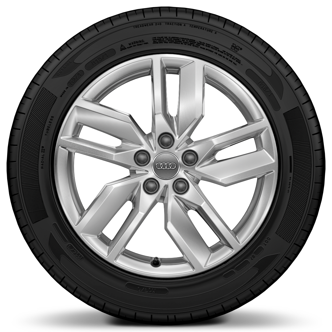 "18"" x 8.0J '5-arm turbine' design alloy wheels with 235/60 R18 tyres"