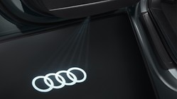LED Audi rings for entry area, for vehicles with LED entry lights