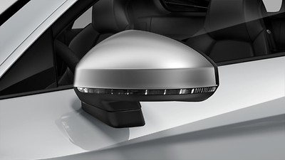 Exterior mirror housings in Aluminum Look