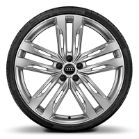Alloy wheels, 5-double-spoke V-style (S style), 8.5J x 21, 255/35 R21 tires