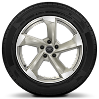 "18"" Audi Sport alloy wheels in 5-arm-turbine design, magnesium with 215/50 tyres"