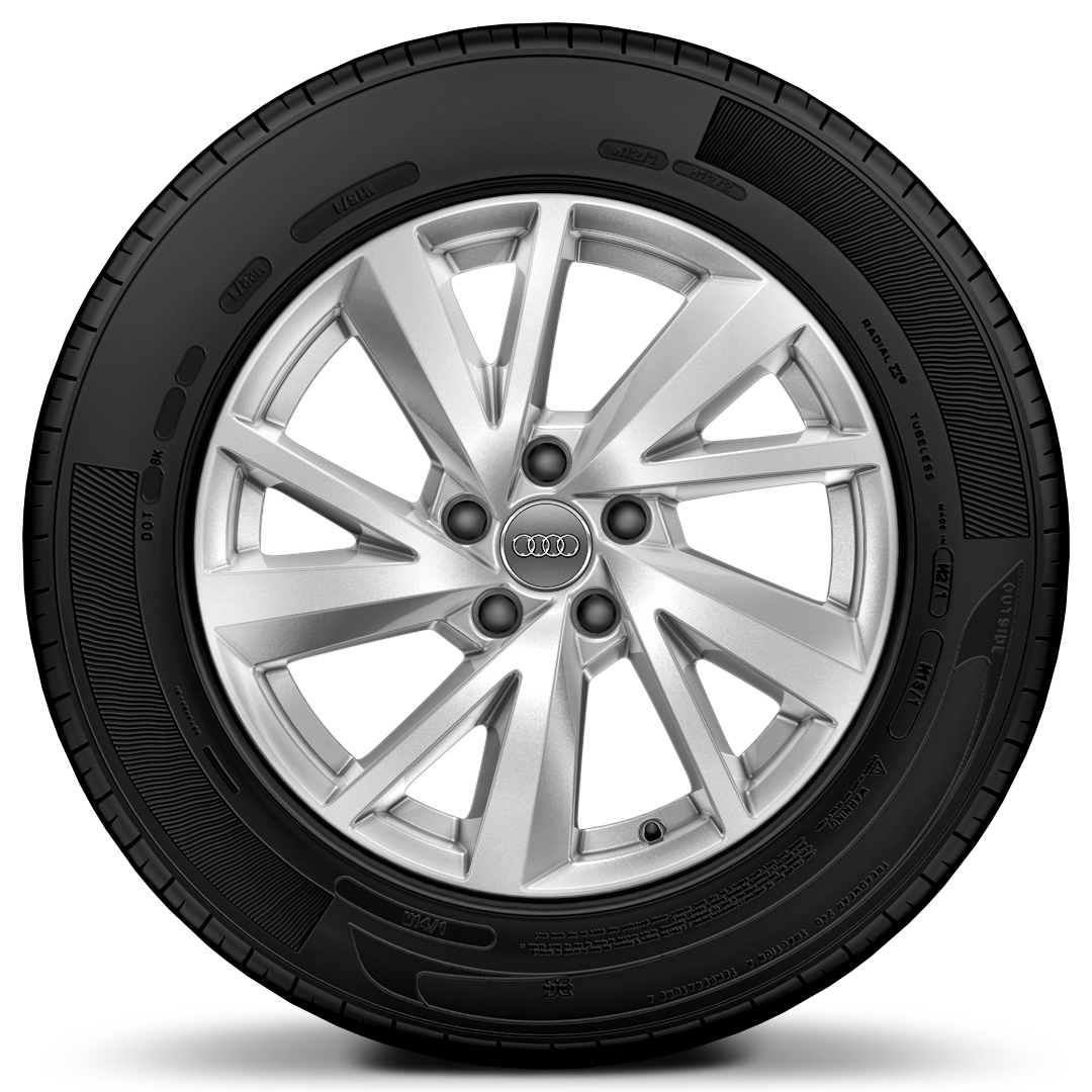 "17"" x 7.0J '5-V-spoke' design alloy wheels with 215/55 R17 tyres"