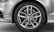 Cast alum. alloy wheels, 5-twin-spoke star des., contrast. grey, partly pol., 8J x 19, w. 235/35 R 19 tyres