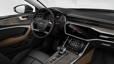 Lower interior elements in leather, Audi exclusive