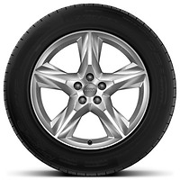 '5-spoke star' design alloy wheels with 255/55 R19 tyres