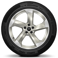 "20"" x 9J '5-parallel spoke Star' design alloy wheels with 265/35 R20 tyres"