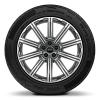 Alloy wheels, 10-spoke star style, Graphite Gray, diamond-turned, 9.0J x 20, 285/45 R20 tires