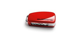 Key cover with quattro design, misano red