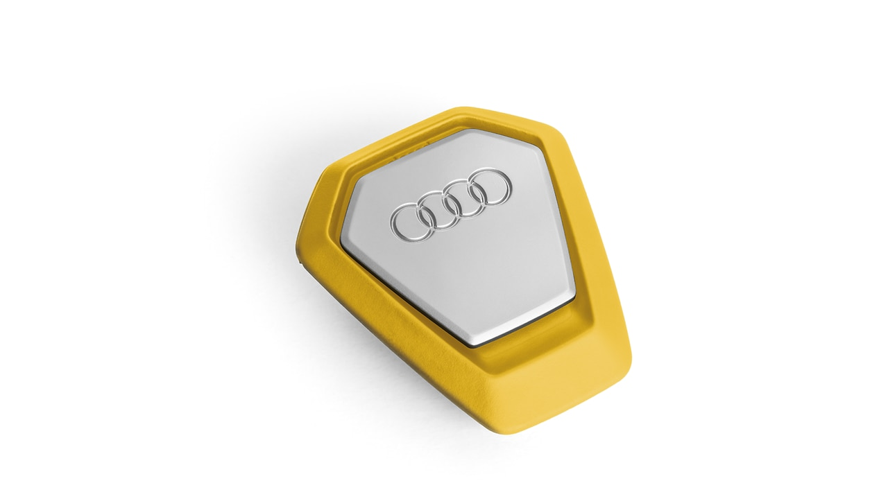 Audi singleframe fragrance dispenser, yellow, invigorating