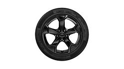 Winterkomplettrad im 5-Arm-Secare-Design, schwarz glänzend, 6,5 J x 17, 215/65 R 17 99H