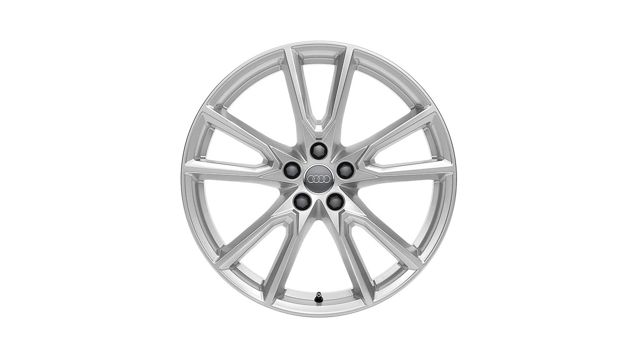 Cast aluminium winter wheel in 10-spoke vox design, brilliant silver, 8 J x 20
