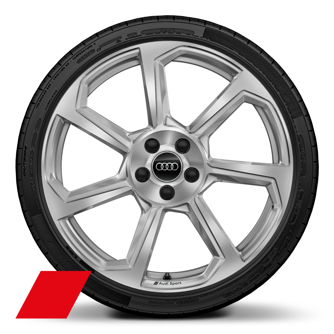 "20"" x 9J 7-spoke rotor style with 255/30 R20 tyres"