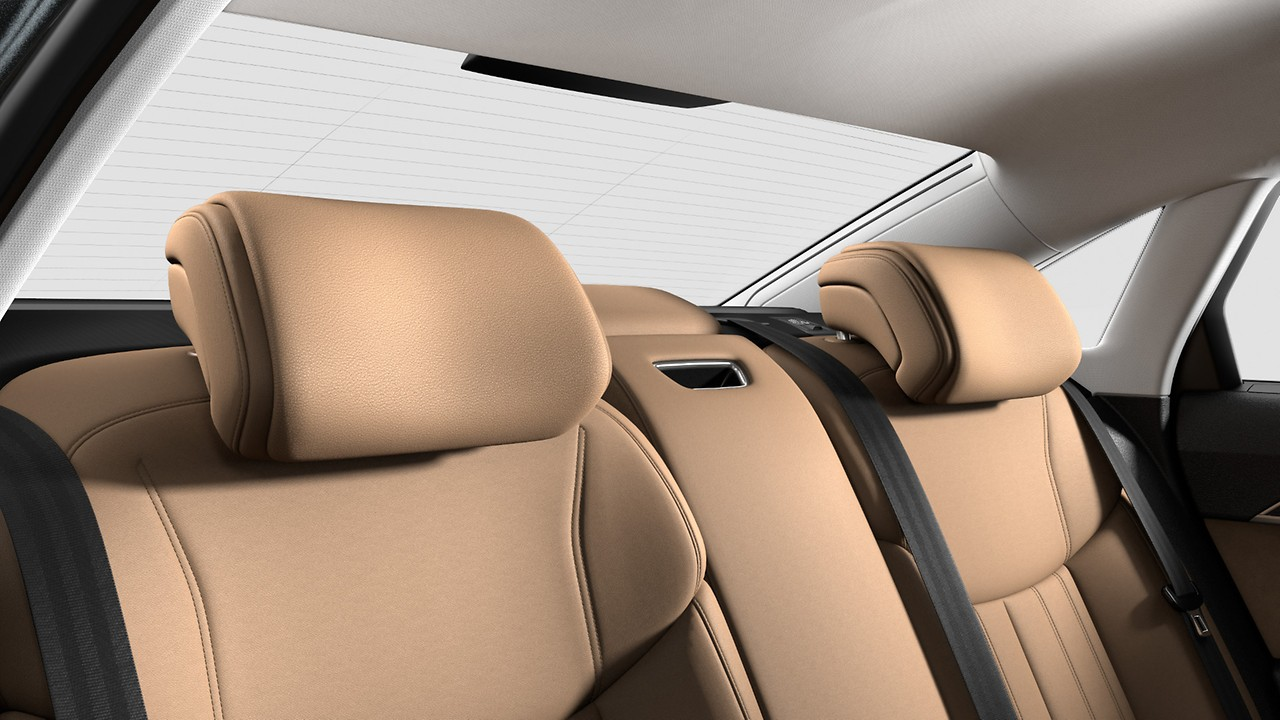 Comfort rear headrests