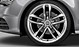 Audi Sport cast aluminium alloy wheels, 5 twin-spoke design, size 9 J x 20, 265/35 R 20 tyres
