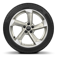 Audi Sport cast alloy wheels, 5-arm turbine st., magnesium look, diamond- turned, 8J x 18 with 225/40 R18 tires