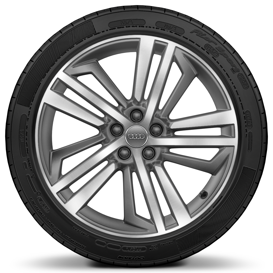"20"" x 8.0J '5-segment-spoke' design contrasting grey, diamond cut alloy wheels"