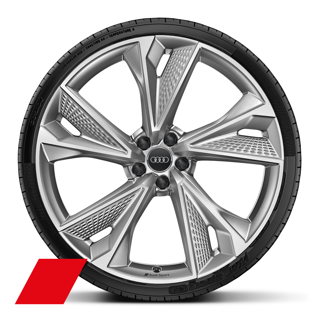"22"" x 10.5J '5-V-spoke star' structure style alloy wheels with 285/30 R22 tyres"