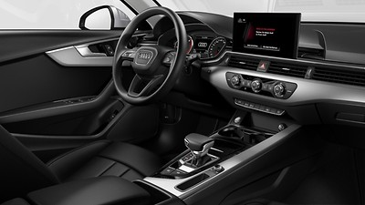Interior accents in black glass look