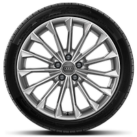 Cast alloy wheels, 15-spoke style, 9J x 19 with 255/45 R19 tires