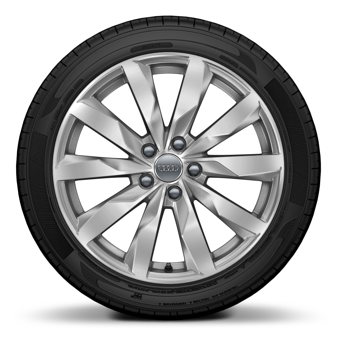"18"" 8J '10-spoke' design alloy wheels, diamond cut finish with 245/40 R18 tyres"