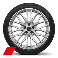 "19"" x 8.0J '10-Y-Spoke"" design Audi Sport alloy wheels diamond cut finish with 235/35 R 19 tyres"