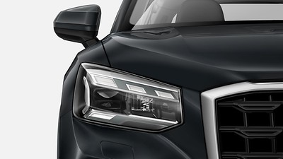 Matrix LED headlamps with dynamic light design and dynamic turn signal